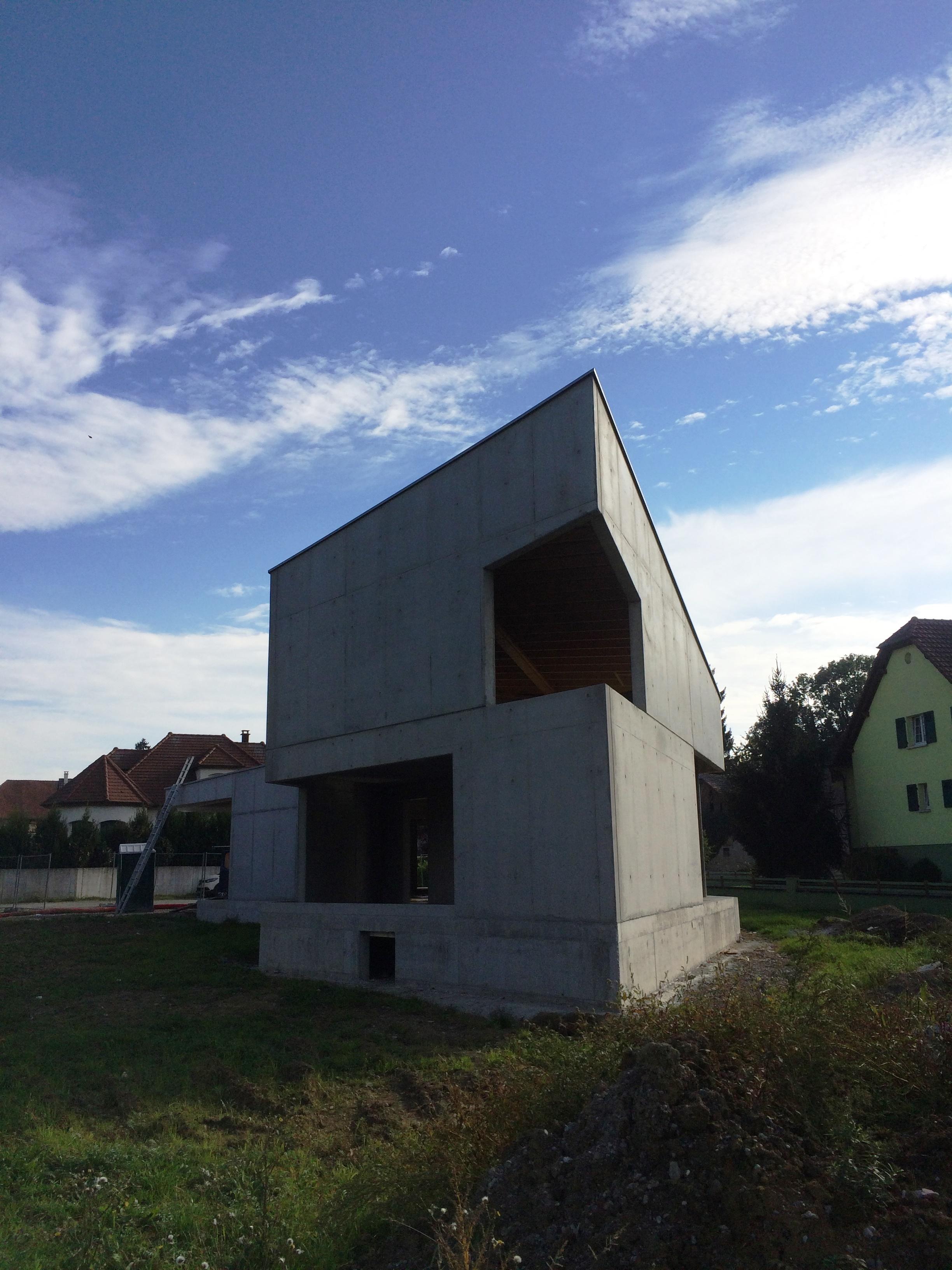 Construction d 39 une maison a wahlbach - Gros oeuvre d une maison ...